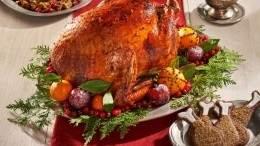 Image for Chef Andrea Buckett's roast turkey with gingerbread glaze