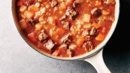 Image for Claire Tansey's beef and barley soup