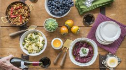 Image for Roasted Beet and Walnut Dip with Greek Yogurt and Za'atar from WhiteWater Cooks: Together Again cookbook