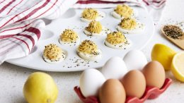 Image for Chef Lynn Crawford's spicy miso devilled eggs