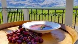 Image for Cherry soup from Sonora Room at Burrowing Owl Estate Winery