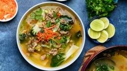 Image for Chili lime ginger turkey soup