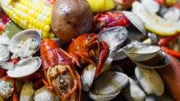 Crab boil from Charcut pop-up dinner.