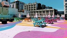 Toronto's RendezViews patio transforms into a colourful art park