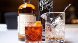 Wishbone's gin Old Fashioned cocktail