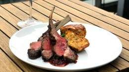 Image for Grilled Ontario lamb with maple red pepper relish from Victor Restaurant