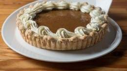 Image for Railtown Catering's pumpkin pie with Chantilly cream