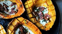 Image for Renée Kohlman's roasted acorn squash with maple goat cheese and pecans