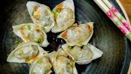 Image for Shrimp dumplings with XO sauce