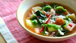 Image for Swiss chard and braised pork soup