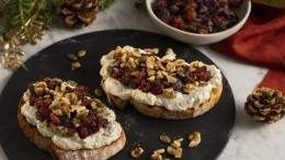 "Image for Whipped mascarpone tartine with ""sugarplum"" compote"