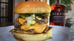 Image for Chef Scott Vivian's maple whisky beast burger