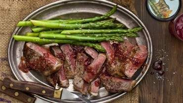 Image for Batch cookbook's venison, moose, or grass-fed beef with brandy raspberry reduction