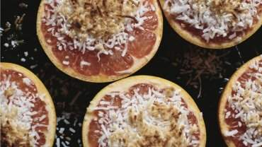 Image for Broiled grapefruit with honey and coconut from The Sobo Cookbook