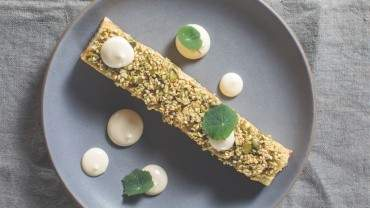 Image for Chef Andrea Carlson's celeriac pavé with white miso