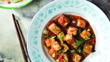 Image for Chef Cameron Stauch's tofu with tomato sauce