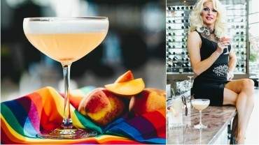 Image for Drag queen Carlotta Gurl's Two Hearts cocktail