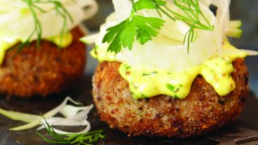 Image for Stella's Eatery's Pickerel Cakes with Fancy Tartar Sauce & Fennel Slaw