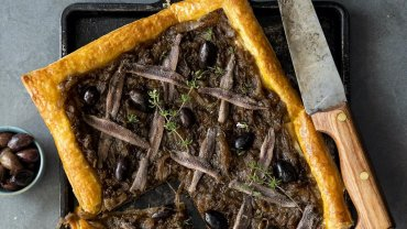 Image for Classic French pissaladière recipe from Bisous and Brioche cookbook