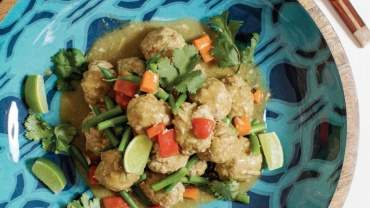 Image for Chef Michael Olson's green curry meatballs with coconut