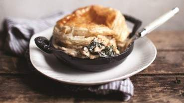 Image for Marcella DiLonardo's greens and wild mushroom pot pies