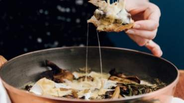 Image for Mary Berg's herbed mushroom and camembert skillet
