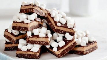 Image for Hot chocolate Nanaimo bars from Baking Day with Anna Olson cookbook