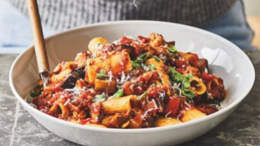Image for Vegetarian eggplant bolognese from The Bite Me Balance Cookbook
