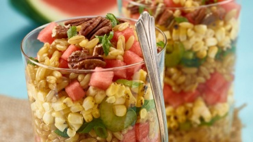 Image for Mapled ancient grain and watermelon salad