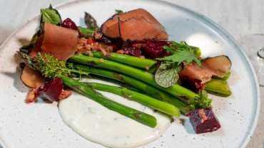 Image for The Terrace Restaurant's Grilled Spring Asparagus
