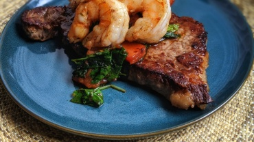 Image for One pan surf and turf