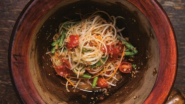 Image for Green papaya salad from Maeman cookbook