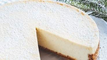 Image for Ricardo Larrivée's eggnog cheesecake