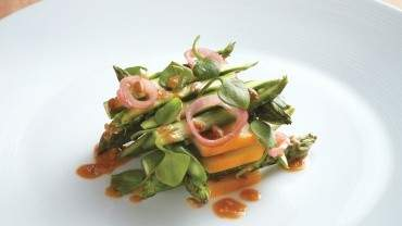 Image for The Wickaninnish Inn's roasted asparagus salad