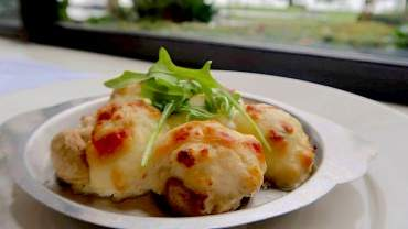 Image for The Teahouse's stuffed mushrooms with crab, shrimp, and cream cheese