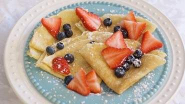 Image for Twin Kennedy's vanilla berry crepes