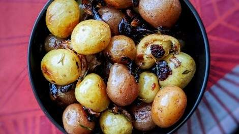 Image for Lemon and cranberry roasted potatoes