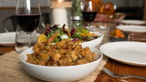 Image for Railtown Catering's dried apricot, chestnut and brioche bread stuffing
