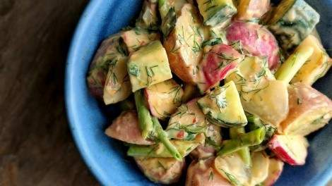 Image for Potato salad with fresh herb and hummus dressing