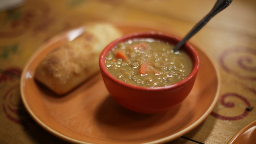 Image for Rustic lentil and vegetable soup
