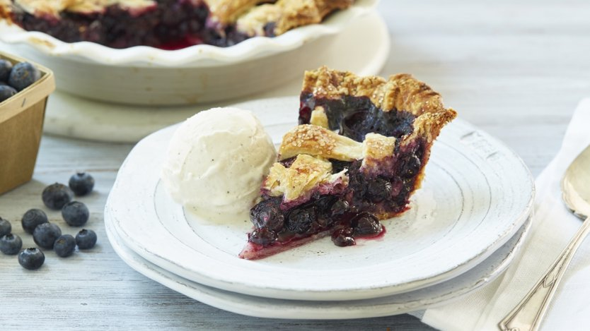 Image for B.C. blueberry lattice top pie