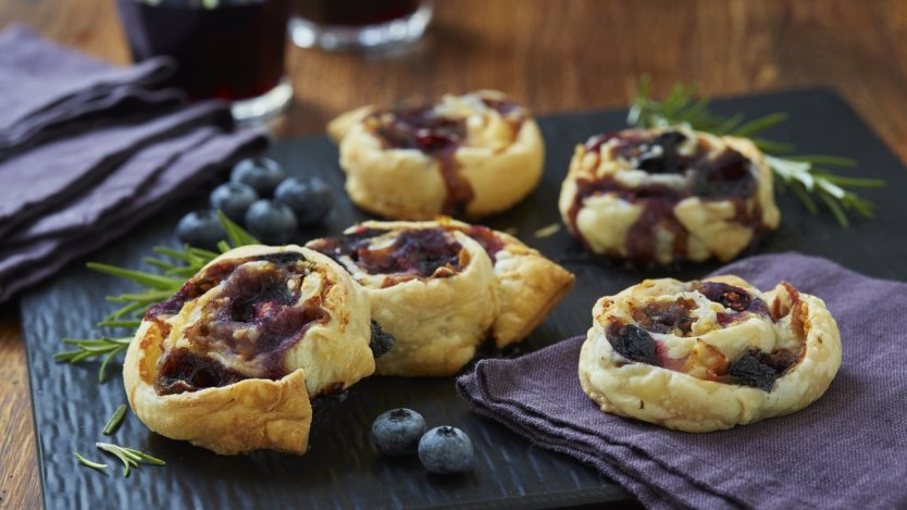 Image for Savoury scroll biscuit with B.C. blueberries