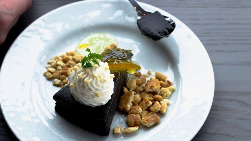 Image for Tora's black sesame cheesecake