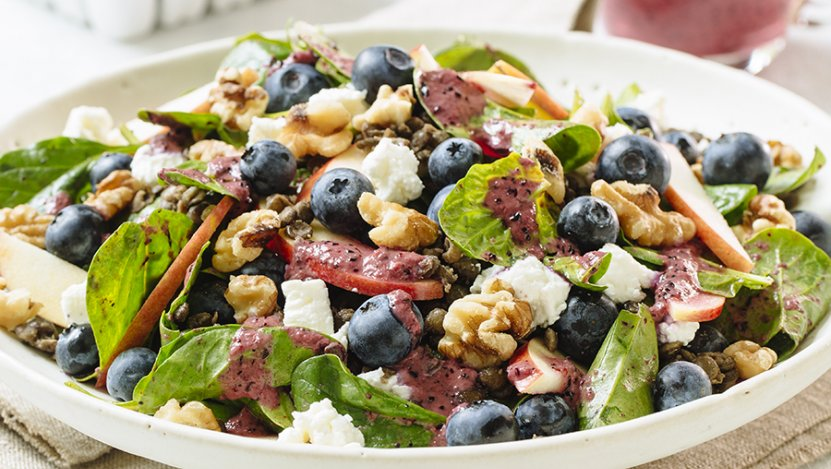 Image for Blueberry spinach lentil salad with B.C. blueberries