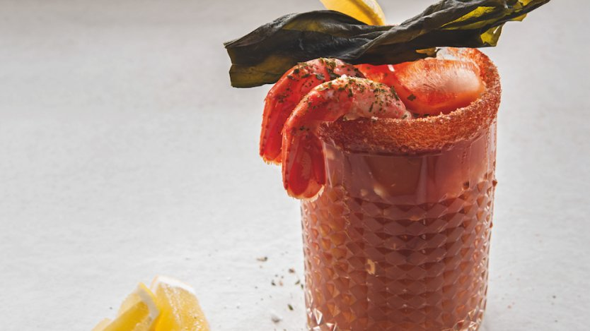 "Image for Caesar with Seaweed Vodka ""Prawn Cocktail"" from Lure cookbook"