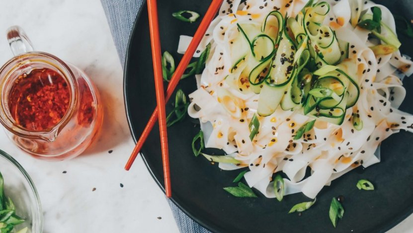 Image for Lauren Toyota's cold cucumber-chile noodles