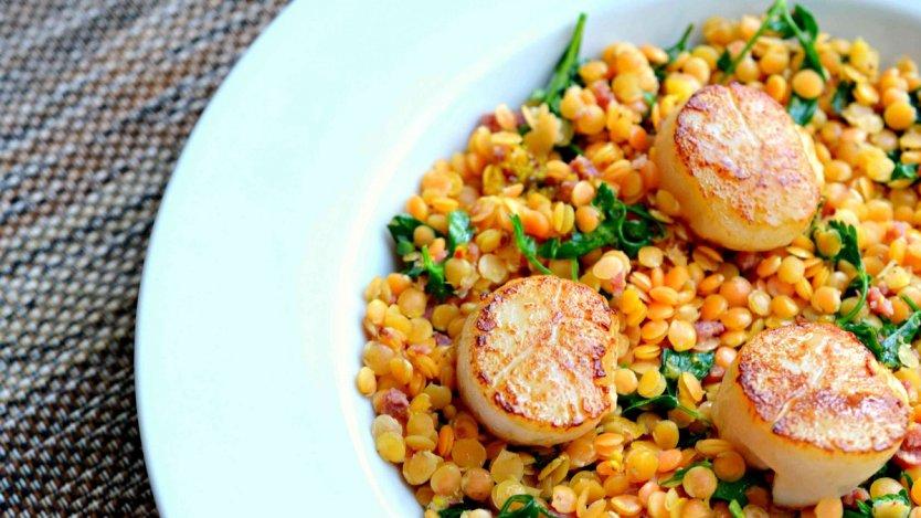 Ocean Wise scallops dish