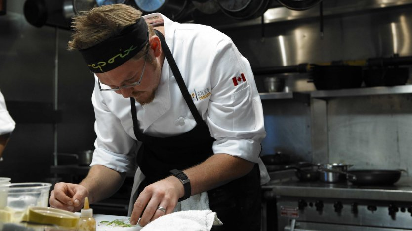 Chef Jonathan Korecki. photo courtesy of Top Chef Canada
