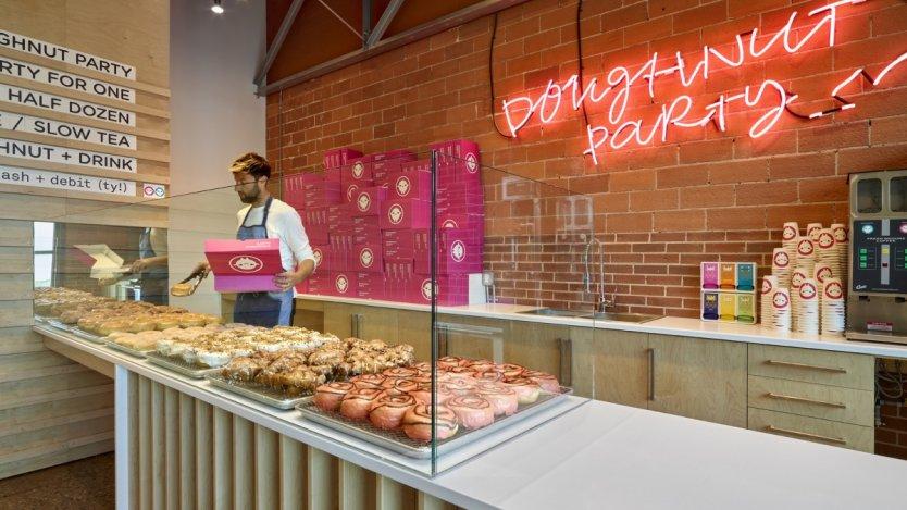 Doughtnut Party store (credit Merle Prosofsky).