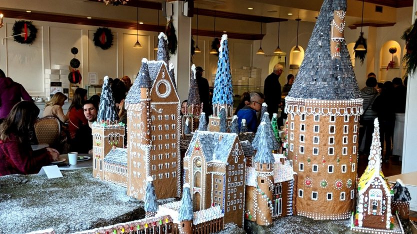 Image for Daily bite: Duchess Bake Shop creates a stunning gingerbread Hogwarts Castle for the holidays